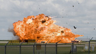 A CF-18 fighter jet crashes during a practice flight for the Alberta International Airshow in Lethbridge.